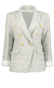 Vintage Parisian Blazer - French Blue