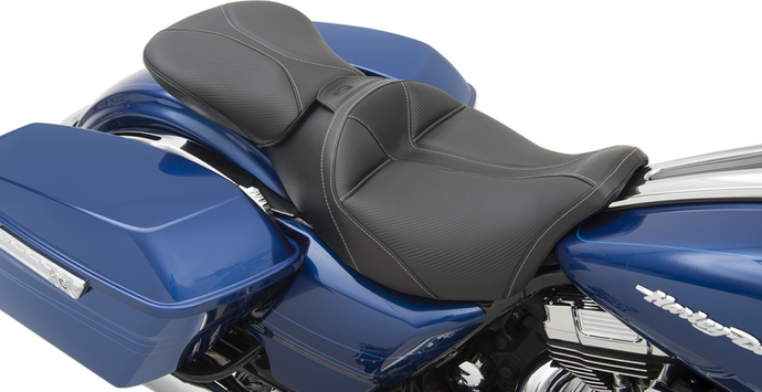 Dominator Seats and Pillion Pads with Backrest Option
