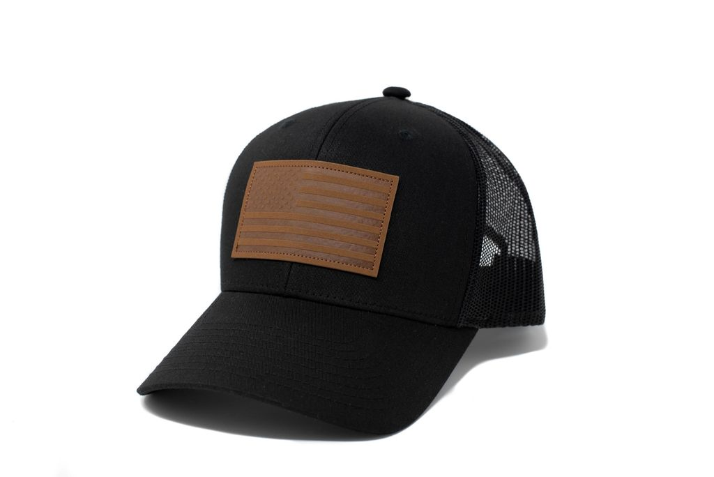 Black American Flag Hat - 13 Stripes
