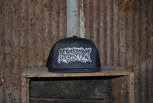 Grey - Black Stock Flat Bill Hats