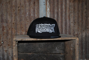 Black - Black Stock Flat Bill Hats