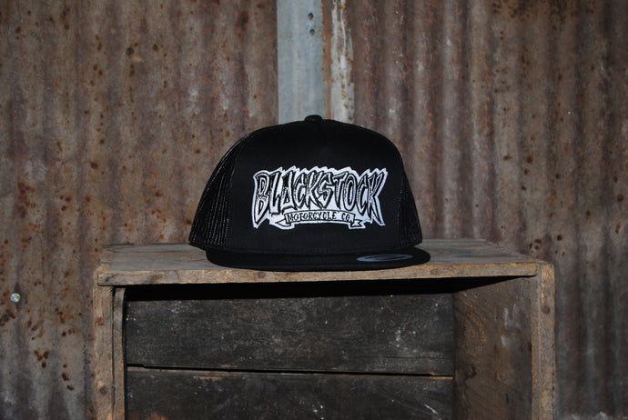 Black Stock Flat Bill Hats