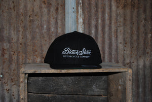 Black Wool - Black Stock Flat Bill Hats