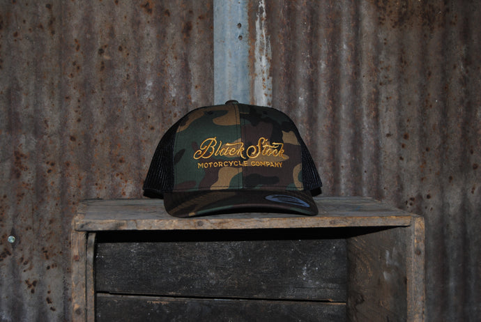 Camo - Black Stock Flat Bill Hats