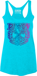 Dixxon - Ladies Ombre Party-Crest Racerback Tank