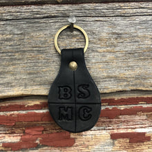 Black Stock Leather Keychain