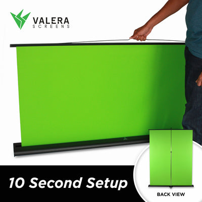 Creator 95 Professional Collapsible Green Screen + Valera Background Gallery Bundle - Valera Green Screens