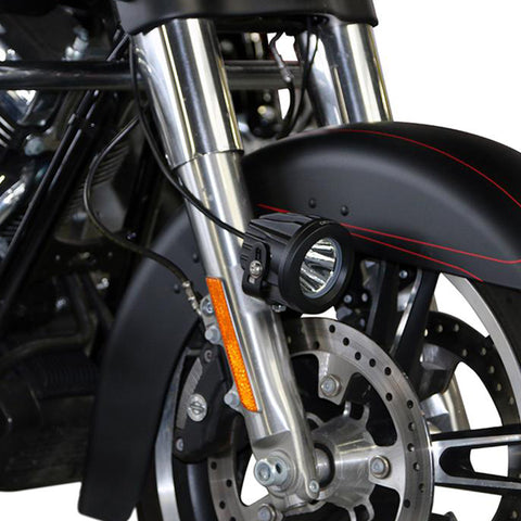 DENALI AUX LIGHT MOUNT HARLEY SPORTSTER, SOFTAIL, TOURING