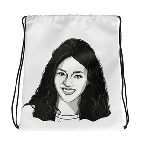 LINE ART Drawstring bag