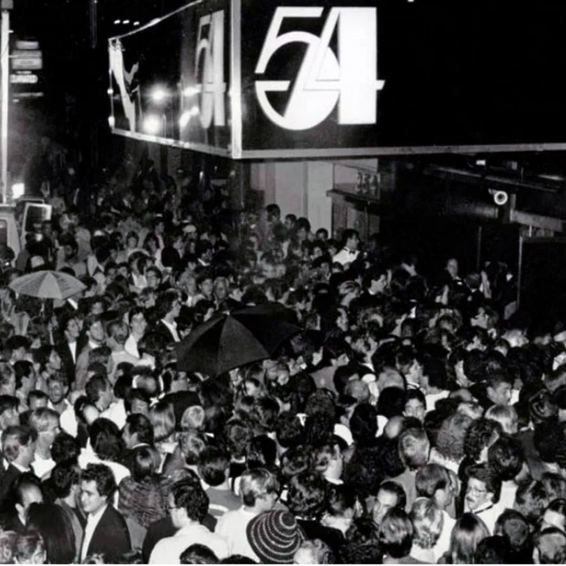 Crowds of people outside Studio 54