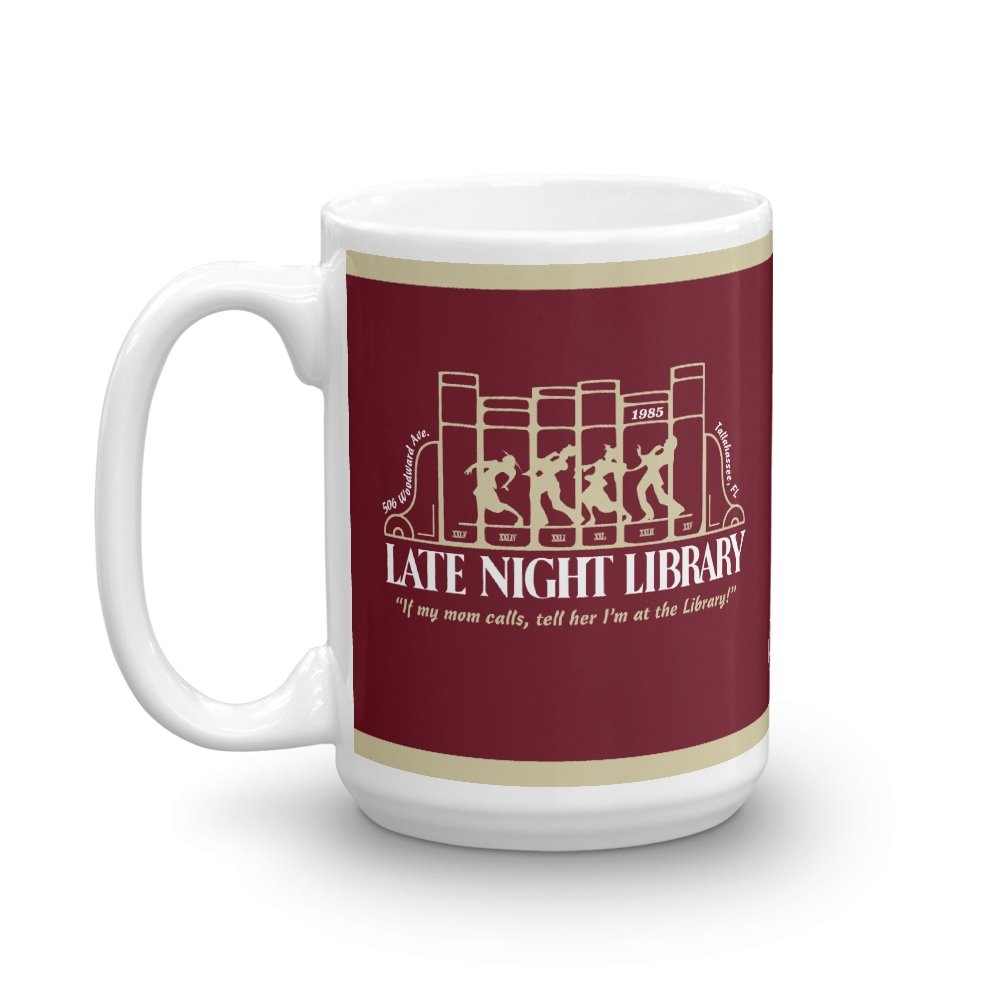Late Night Library 15 oz. Mug - Long Lost Tees