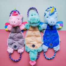 Load image into Gallery viewer, Pastel Dino & Unicorn Multi-Squeaky Plush
