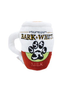 Bark & White Squeaky Mug Plush