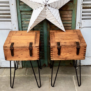 Upcycled Vintage Storage Tables (sold)