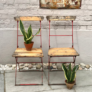 Pair of Vintage Belgian Bistro Chairs (sold)