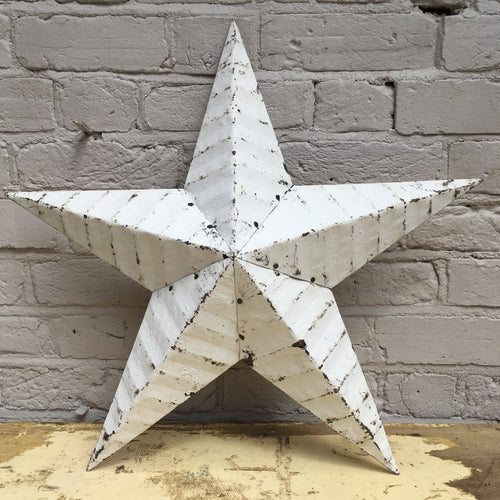 Giant White Original Barn Star (sold)
