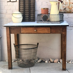 10% OFF! 1940's Enamel Topped Scullery Table