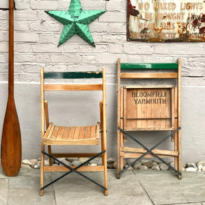 Vintage Folding Bowling Club Chairs
