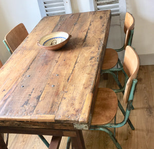 Vintage Industrial Dining Set (sold)
