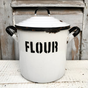 1940s Enamel Flour Canister (sold)