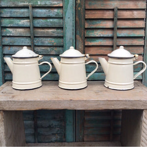 Little Enamel Teapots (sold)