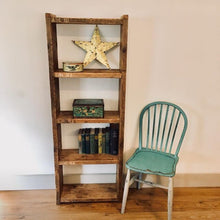 Reclaimed Oak Shelf Unit - Oak Brown