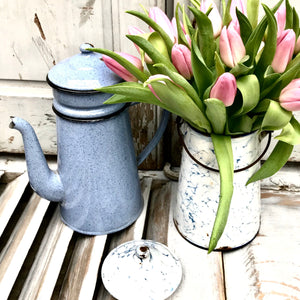 Vintage French Enamel Coffee Pot (sold)