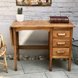 Mid Century Extending Utility Oak Desk (sold)