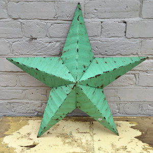 Large Green Original Barn Star (sold)