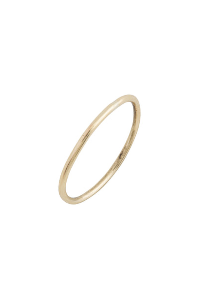 The Round Thin Band Solid Gold