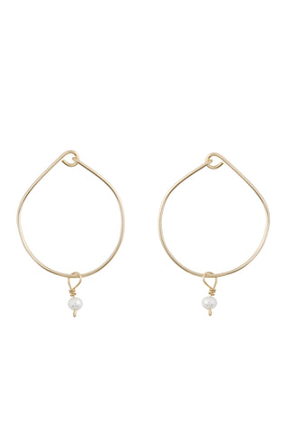 The Baby Pearl Hoops Solid Gold