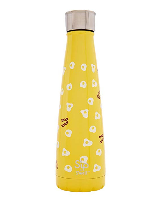 S'ip by S'well Vacuum Insulated Stainless Steel Water Bottle, 450ml, Sunny Side