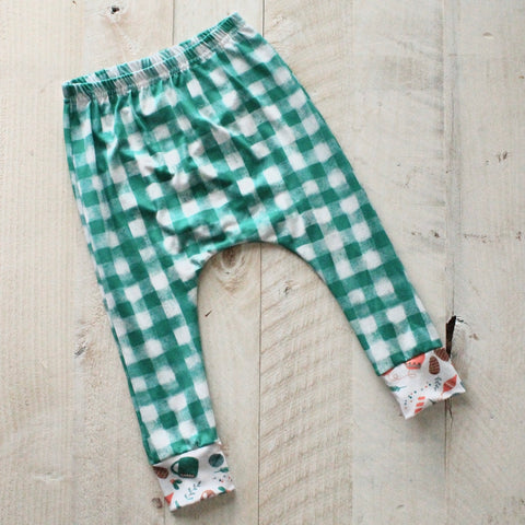 12/18m Green Gingham Harem Pants