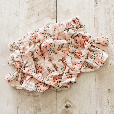 9/12m Watermelon Gauze Bloomers