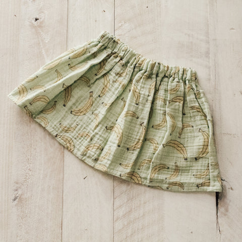 18/24m Bananas Gauze High Waisted Skirt