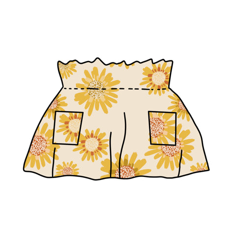Sunflower High Waisted Skirt- Preorders