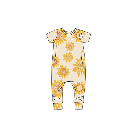 Sunflower Harem Romper- Preorders