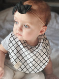 Rust Mud Cloth Scallop Bib