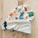 9/12m Nutcracker & Wintry Day Slouch Beanie