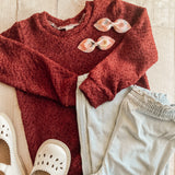 4/5y Wine Sweater Crewneck Pullover