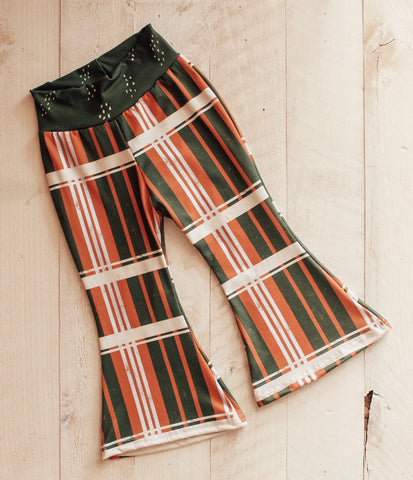 18/24m Linear Plaid Bell Bottoms