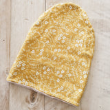 2/3t Yellow Floral & Beige Slouch Beanie