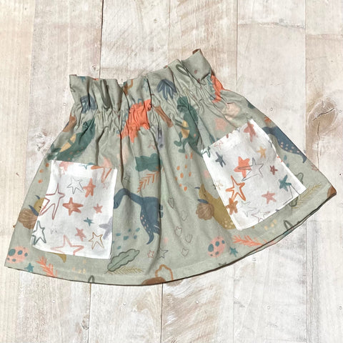 Dinosaur High Waisted Skirt- Preorders
