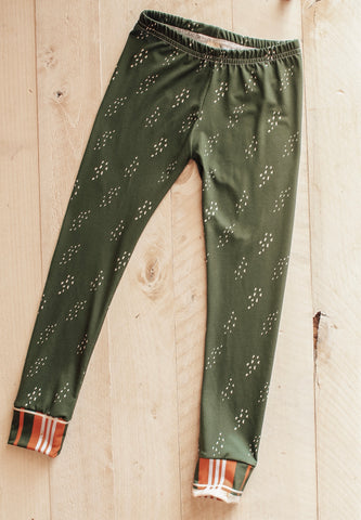 5/6y Green Stipple Legging Pants