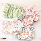 3/6m Pink and Navy Floral Bloomers