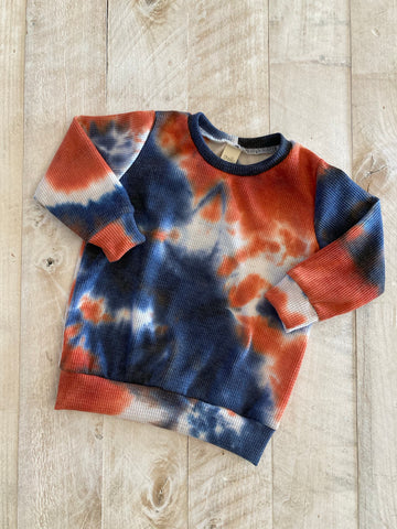 2/3t Americana Waffle Crewneck Pullover