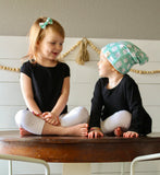 NB Mint Chip and Birds Slouch Beanie