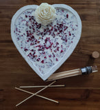 Large Heart Bowl Candle