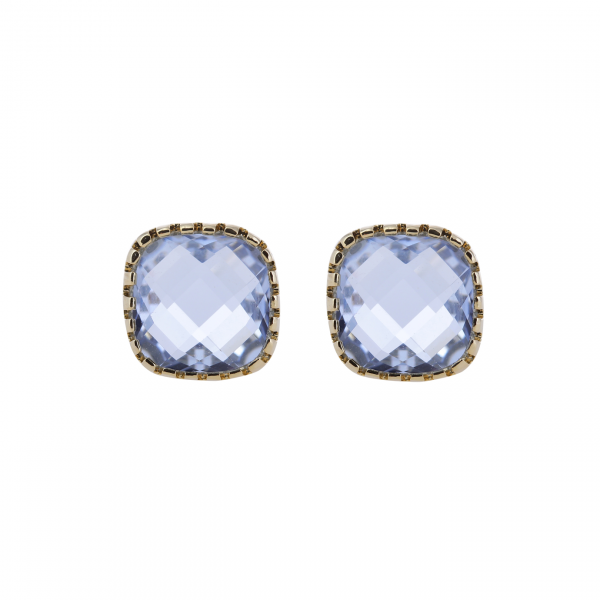 Classic Stud Blue Earrings