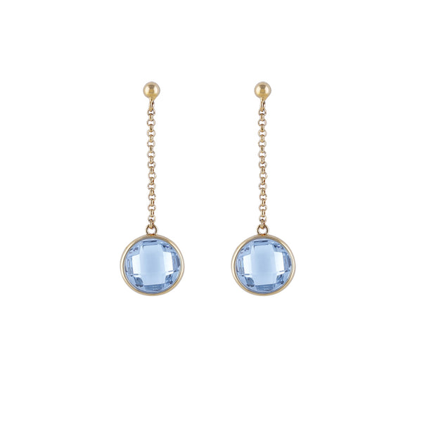 Hanging Blue Earrings